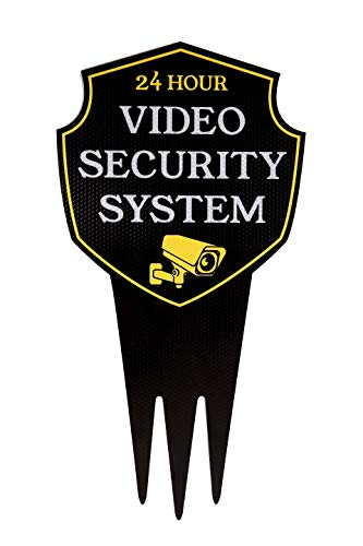 Video Surveillance Yard Sign with Stake