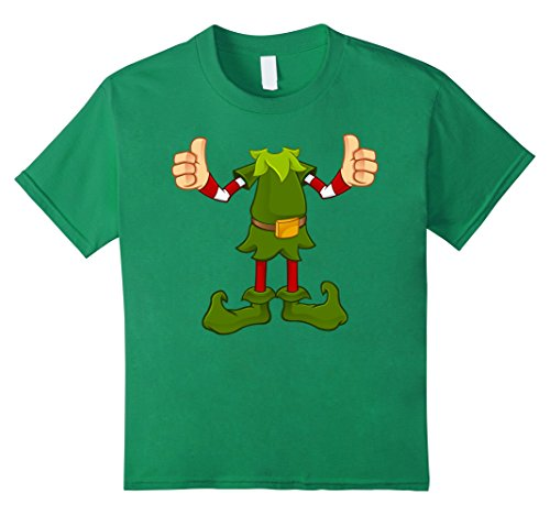Kids Elf Costume T-Shirt Funny Christmas Gift Idea Shirt 8 Kelly Green