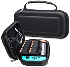 TRAVEL CASE FOR NINTENDO SWITCH:              Designed to make your new Nintendo Switch Console even more portable & travel friendly.                MULTIPLE STORAGE:              The main bottom section of this case fits ...