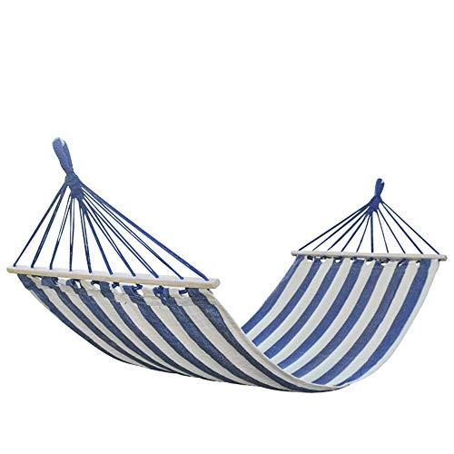 DFKDGL Hamaca para Acampar con Bolsa de Transporte Doble Ligero Espesar Raya de Lona al Aire Libre Ultraligero Cama Plegable portatil para Acampar para Mochila Silla de Camping