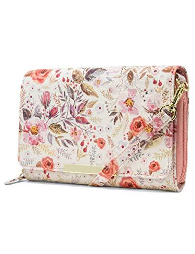 Mundi RFID Crossbody Bag For Women Anti Theft Travel Purse Handbag Wallet Vegan Leather (Whimsical) ()