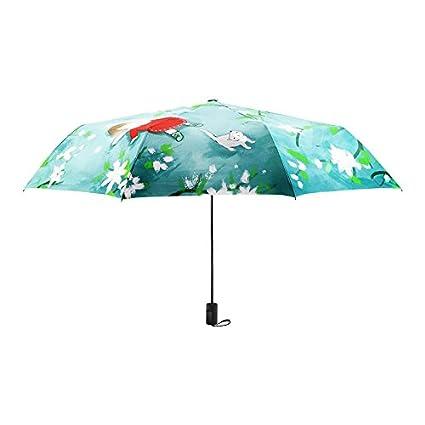 Mujer Hombre Paraguas Viaje Patrón de flor de paraguas de sol Ilustración creativa de las mujeres