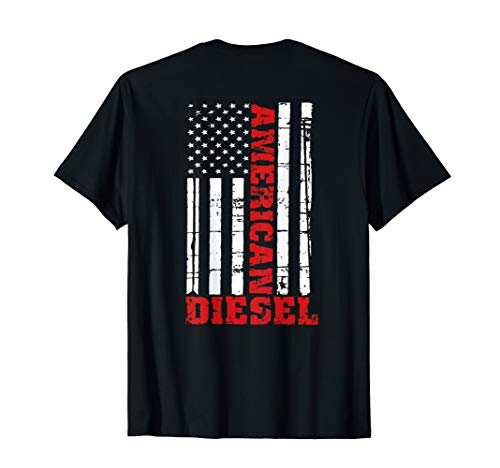 (American Diesel Flag T-Shirt Truck Turbo Brothers)