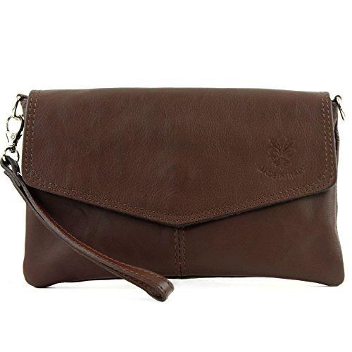 modamoda de - Made in Italy - Bolso cruzados para mujer ver descripción marrón chocolate