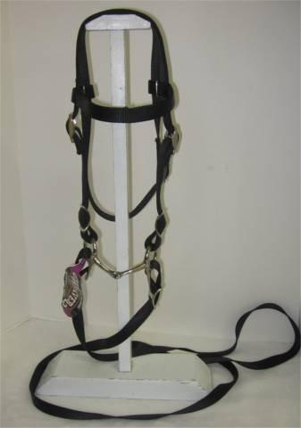 MINIATURE HORSE / SMALL PONY NYLON BRIDLE BLACK