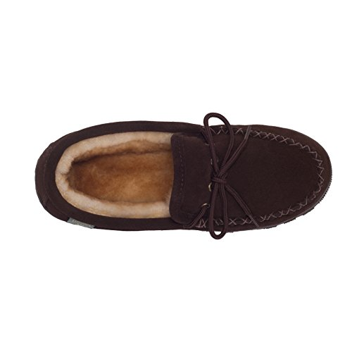 Rjs Fuzzies Mens Mocassini In Pelle Di Montone (cioccolato, 8)