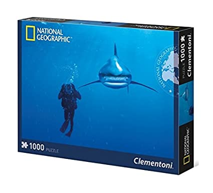 Clementoni 39303 - National Geographic Ocean Whitetip Shark Puzzle, 1000 Pezzi