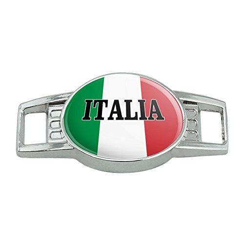 Italia Italy Italian Flag Shoe Shoelace Shoe Lace Tag Runner Gym Charm ()