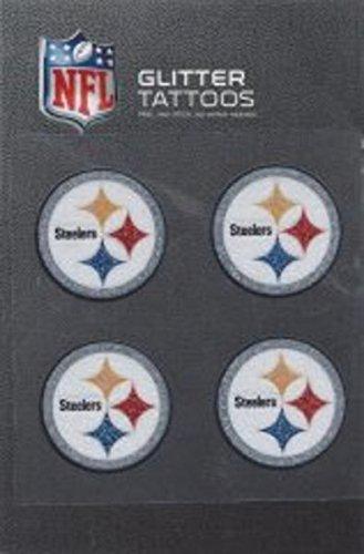 NFL Pittsburgh Steelers Glitter Tattoo, set of 4