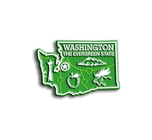 Washington State Map Magnet (State Shape Flexible Magnet)