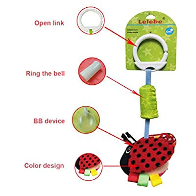 NUOBESTY Baby Hanging Rattles Toys Newborn Crib Toys Car Seat Stroller Toys Animal Bell Toy for Infant Baby (Ladybird): Toys & Games