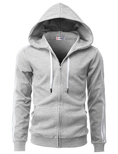 H2H Mens Fashion Slim Fit Hoodie Jacket Active Wear