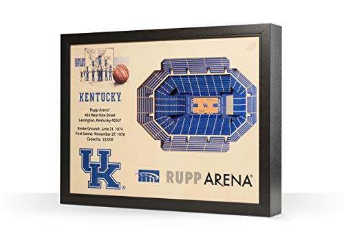 NCAA Kentucky Wildcats 25-Layer Stadiumviews 3D Wall Art ()