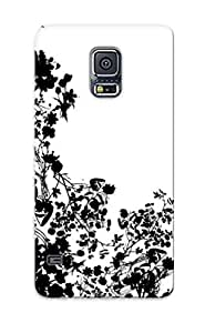 Galaxy S5 Case - Tpu Case Protective For Galaxy S5- Flower Silhouette Case For Thanksgiving's Gift