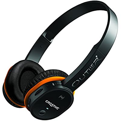 Creative 51EF0690AA006 Outlier Wireless On-Ear Headphones with Integrated MP3 Player Black