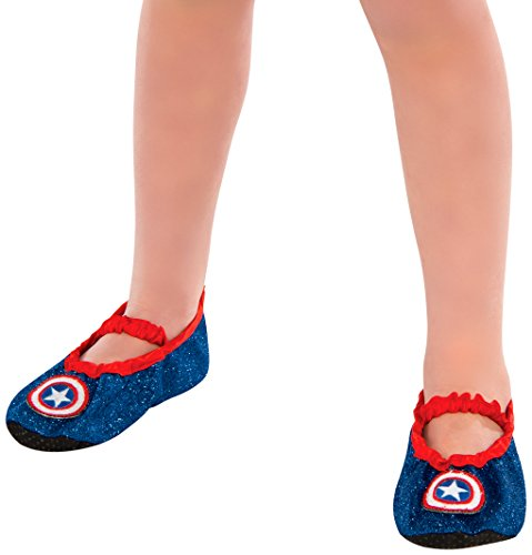 [Marvel Universe Classic Child's Captain America Costume Slipper Shoes] (Captain America Classic Costumes)