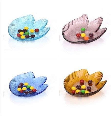 葉巻灰皿, 魚透明なガラスコンポート皿フルーツ皿の色ミニ灰皿ディップバタフライクリエイティブカラオケスナックディッシュ、シックス・箱入り魚料理の箱