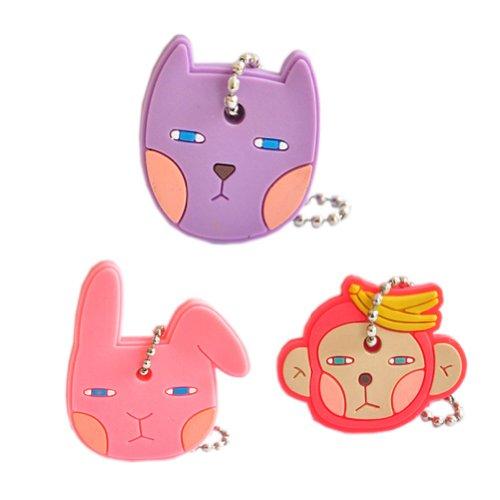 Set of 3 Cute Portable Key Cover/Key Caps/Key Tags 44.5CM[Bunny/Cat/Monkey]