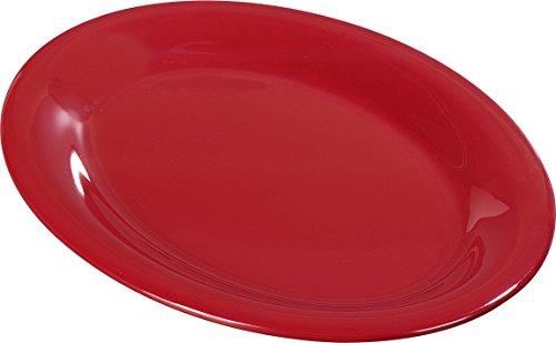 Carlisle (3308005) Sierrus Oval Platters, Set of 12 (13 1/2-Inch x 10 1/2-Inch, Melamine, Red, ()