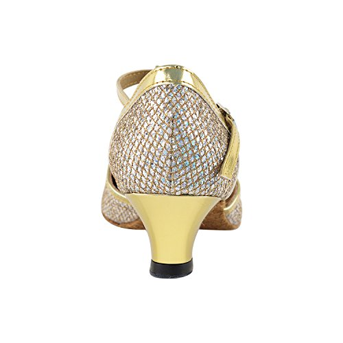 Latin Salsa 9627 Gold Shoes Low Swing Dress Heel Pigeon Art Shoes Gold Vegan Collection by Women of 50 Dance Sparklenet Shades amp; Ballroom Tango Shoes 50 Practice Theather Available Trim Shades Dance Gold xTwqXPfHp