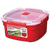 Sistema Microwave Cookware Medium Steamer, 83.5 Ounce/ 10.4 Cup, Random Colors