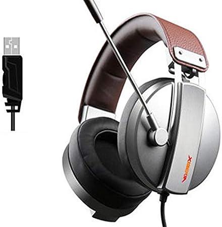 XHN PS4 - Auriculares de diadema con sonido envolvente 7.1 y micrófono con cancelación de ruido, para Nintendo Switch, portátil y videojuego