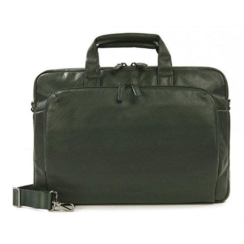 "Tucano One Premium Slim 15"" Briefcase Green - notebook cases (38.1 cm (15""), Briefcase, green, Leather, Monotone, Apple MacBook Pro 15'', MacBook Pro 15"" Retina)"