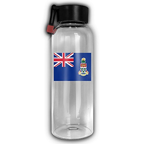 Cayman Travel Tumbler - Flag Of The Cayman Islands Portable Premium Glass Water Bottle Travel Mugs Drink Beverage Tumbler Cup Carafes