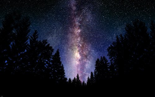 THE MILKY WAY outer space poster BEAUTIFUL COLORS LIGHT STAR