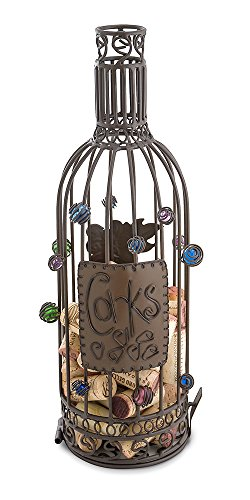 Beaut Products Cork Cage Wine Bottle, 14.25-Inch