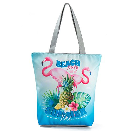 Beach Bag for Bag Bag Women's Girls Canvas Handbag Blue Bag Printing Shopping Tote Students Hobo Pineapple Shoulder EwPqwfB