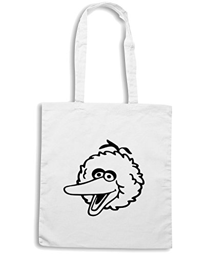 T-Shirtshock - Bolsa para la compra FUN0758 big bird head sticker 20569 Blanco