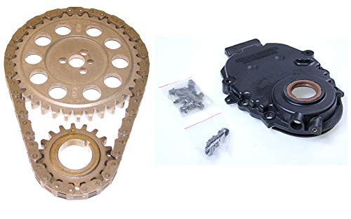 (1996-02 Chevy GMC 5.0 305 5.7 350 VORTEC Timing Cover (WITH crank sensor hole) & Timing Set (Timing Gears & Cover))