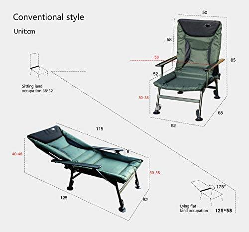 La chaise de loisirs de repos pliante extérieure POL peut être soulevée et abaissée avec un repose-pieds Chaise de pêche portable Chaise de plage extérieure Comme illustré 1