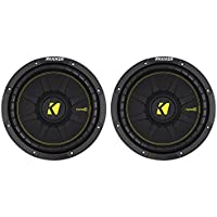 2) KICKER 44CWCD104 CompC 10 1000w Dual 4-Ohm Car Audio Subwoofers Subs CWCD104