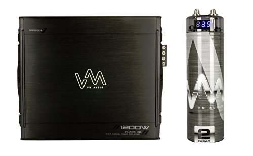 VM Audio SRA1200.4 1200W 4 Channel Car Amplifier Power Amp MOSFET + Capacitor
