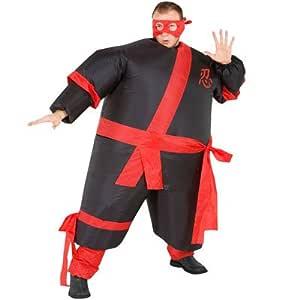 Inflatable Ninja Warrior Fancy Dress Costume Fat Sumo Suit ...