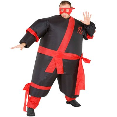 Inflatable Ninja Warrior Fancy Dress Costume Fat Sumo Suit ...