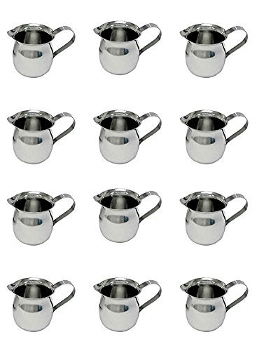 Update International BC-3 Stainless Steel Bell Creamer, 3-Ounce, 2-1/4-Inch, Set of -