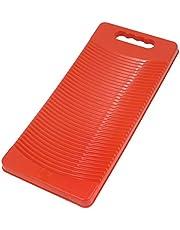 YUPVM Plastic Rectangle Washboard Wash Clothes Board 50cm Long red, Green, Blue Random