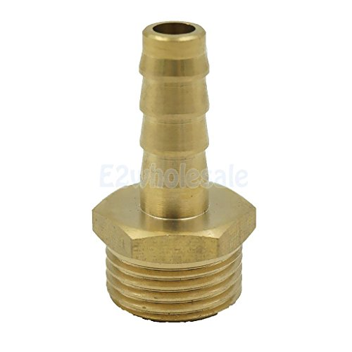 12mm 3/4' Brass Male Barbed Hose Joiner Fitting Tubing Pipe Adapter Coupler