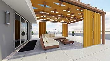 IMMAGINE Store - Tela para cortinas de sol exteriores de 1 metro de tela de color liso, impermeable, tejido de última generación, cenador para balcón, caravana, toldo pergamino de 10 colores, LADRILLO: