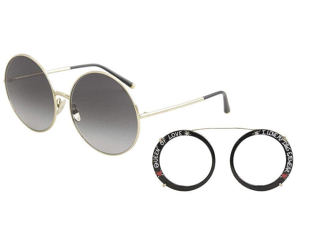 cb143bfe84 Amazon.com  Dolce   Gabbana Women s Round Leo Sunglasses
