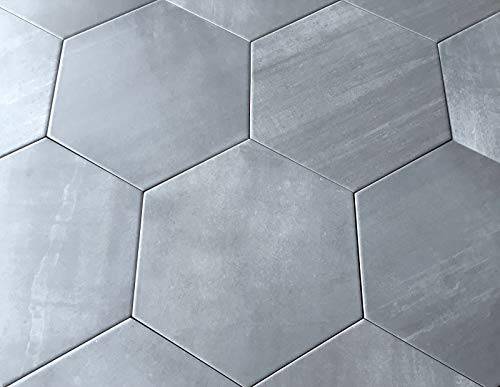 10.2 x11.4 Mama Mia Gray Hexagon Gris Porcelain Tile Floor