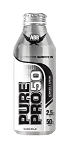 ABB Performance Pure Pro 50 Shake, Cookies & Cream, 14.5-Ounce Bottles (Pack of 12)