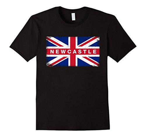 Men's Newcastle Shirt Vintage England Flag T-Shirt XL Black