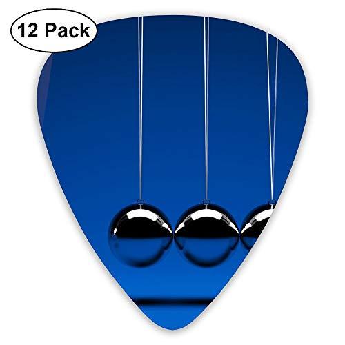 Classic Guitar Pick (12 Pack) Physics Inertia Balls Player's Pack for Electric Guitar,Acoustic Guitar,Mandolin,Guitar Bass