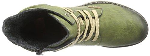 Kurzschaft Mogano 78530 Damen Rieker Stiefel Grün 52 Leaf ngqOnTwp