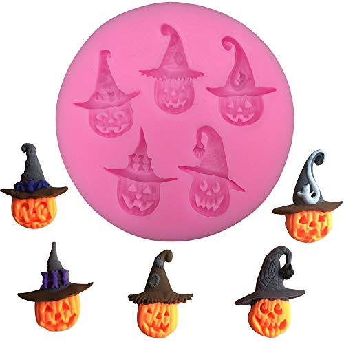 1 piece Halloween Pumpkin Witch Shaped Food Grade fondant cake silicone moulds for mastic confectionery accessories decoration FT-0272