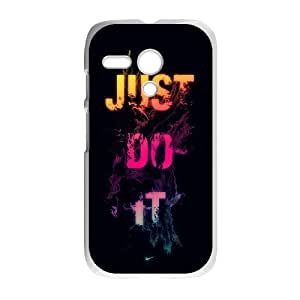 NIKE JUST DO IT C-U-N3039933 Motorola G Phone Back Case Use Your Own Photo Art Print Design Hard Shell Protection